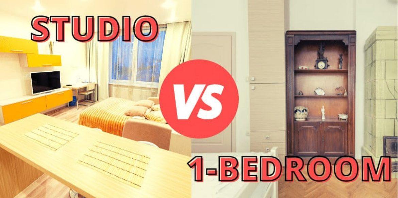 one bedroom or studio apartments